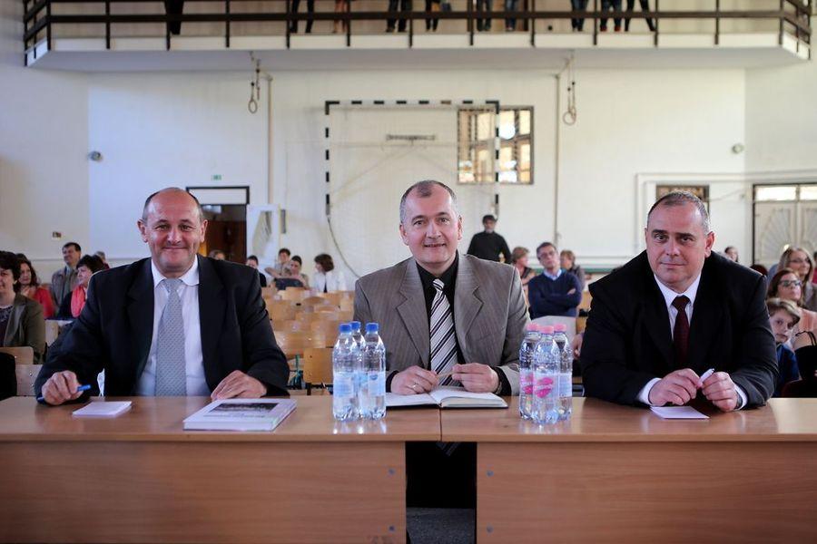 A zsűri (balról jobbra: Markovics Gábor, Szabó Ferenc, Horváth Adrián)